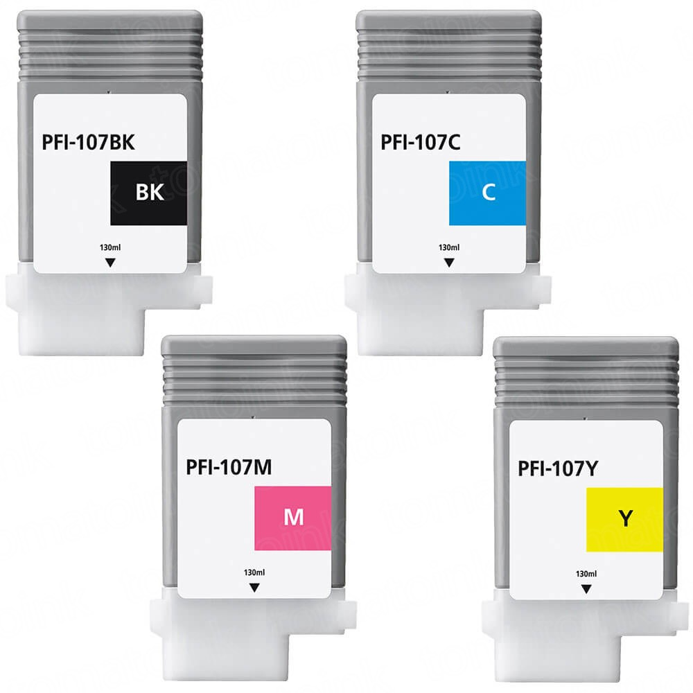 Canon PFI-107 Black & Color 4-pack Ink Cartridges