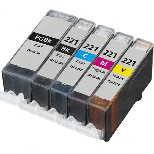 Canon PGI-220 & CLI-221 Black & Color 5-pack Ink Cartridges