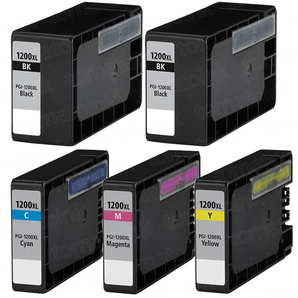 Canon PGI-1200XL Black & Color 5-pack High Yield Ink Cartridges