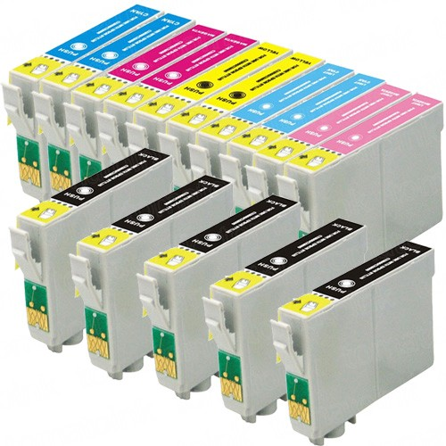 Epson 79 T079 Black & Color 15-pack High Yield Ink Cartridges