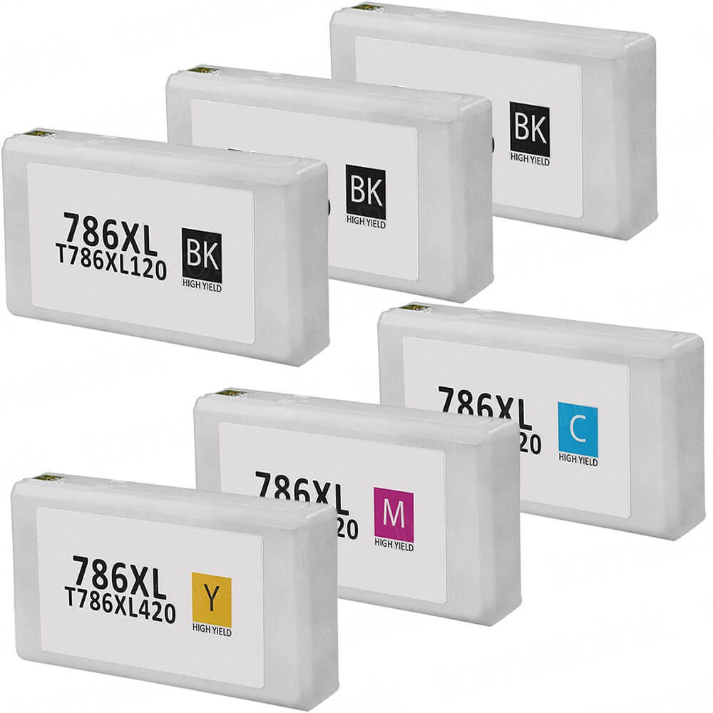 Epson 786XL T786XL Black & Color 6-pack HY Ink Cartridges