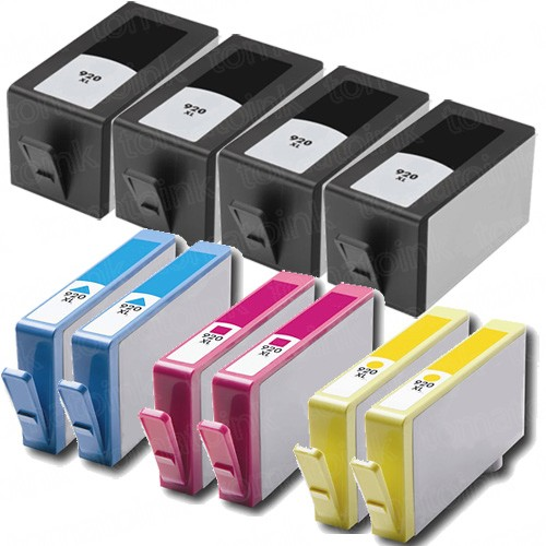 HP 920XL Black & Color 10-pack High Yield Ink Cartridges