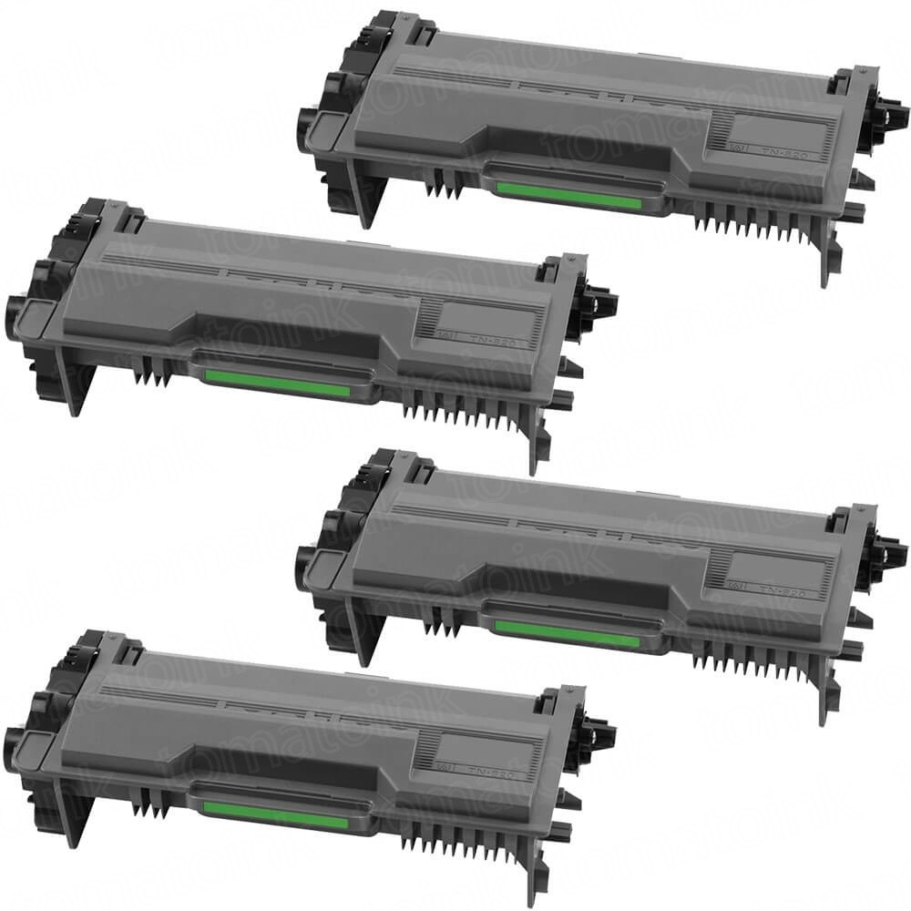 Brother TN820 (4-pack) Black Toner Cartridges