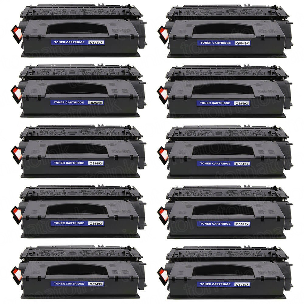 HP 49X (Q5949X) 10-pack High Yield Black Toner Cartridges