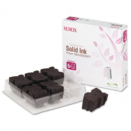 Xerox 108R00747 / Phaser 8860 OEM Magenta Solid Ink 6-pack Cartridge