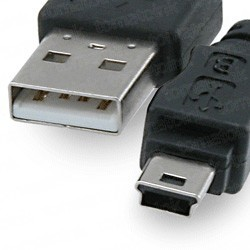 USB 2.0 Hi-Speed A to Mini B Device Cable 6ft. / AM to Mini BM (5 pins)