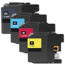 Brother LC10E Black & Color 4-pack High Yield Ink Cartridges