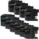 Brother LC209 & LC205 Black & Color 10-pack XXL Ink Cartridges