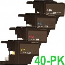 Brother LC75 Black & Color 40-pack High Yield Ink Cartridges