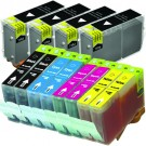 Canon BCI-3eBK & BCI-6 Black & Color 12-pack Ink Cartridges