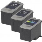 Canon PG-40 Black & CL-41 Color 3-pack Ink Cartridges