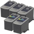 Canon PG-40 Black & CL-41 Color 5-pack Ink Cartridges