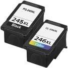 Canon PG-245XL Black & CL-246XL Color 2-pack High Yield Ink Cartridges