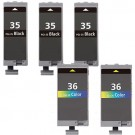Canon PGI-35 & CLI-36 Black & Color 5-pack Ink Cartridges