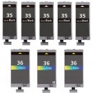 Canon PGI-35 & CLI-36 Black & Color 8-pack Ink Cartridges