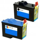 Dell (Series 2) 7Y743 Black & 7Y745 Color 2-pack Ink Cartridges