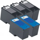 Dell (Series 5) M4640 Black & M4646 Color 5-pack Ink Cartridges