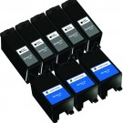 Dell (Series 21) Y498D Black & Y499D Color 8-pack Ink Cartridges