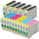 Epson 77 78 T077 T078 Black & Color 15-pack HY Ink Cartridges