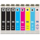 Epson 98 99 T098 T099 Black & Color 8-pack HY Ink Cartridges