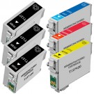 Epson 127 T127 Black & Color 6-pack EHY Ink Cartridges