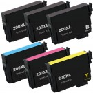 Epson 200XL T200XL Black & Color 6-pack HY Ink Cartridges
