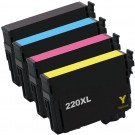 Epson 220XL T220XL Black & Color 4-pack HY Ink Cartridges