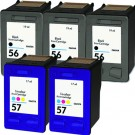 HP 56 Black & HP 57 Color 5-Pack Ink Cartridges
