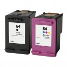 HP 64 Combo Pack 2 Ink Cartridges