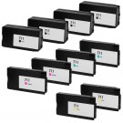 HP 711 Black & Color 10-pack High Yield Ink Cartridges