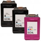 HP 60XL High Yield Black & Color 3-pack Ink Cartridges