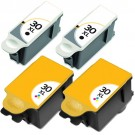 Kodak #30XL Black & Color 4-pack High Yield Ink Cartridges