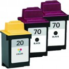 Lexmark #70 Black & #20 Color 3-pack Ink Cartridges
