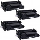 HP 26X (CF226X) 4-pack High Yield Black Toner Cartridges