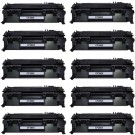 HP 80X (CF280X) 10-pack High Yield Black Toner Cartridges