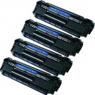 HP 12A (Q2612A) 4-pack Black Toner Cartridges