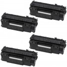 HP 53X (Q7553X) 4-pack High Yield Black Toner Cartridges