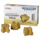 Xerox 108R00725 / Phaser 8560 OEM Yellow Ink 3-pack Cartridge