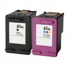 HP 61XL High Yield Black & Color 2-pack Ink Cartridges
